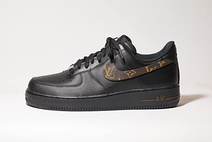 size 40 e0a97 509dd Amazon.com  Nike Air Force 1 AF1 Custom LV Black OG Edition available in  all sizes  Handmade