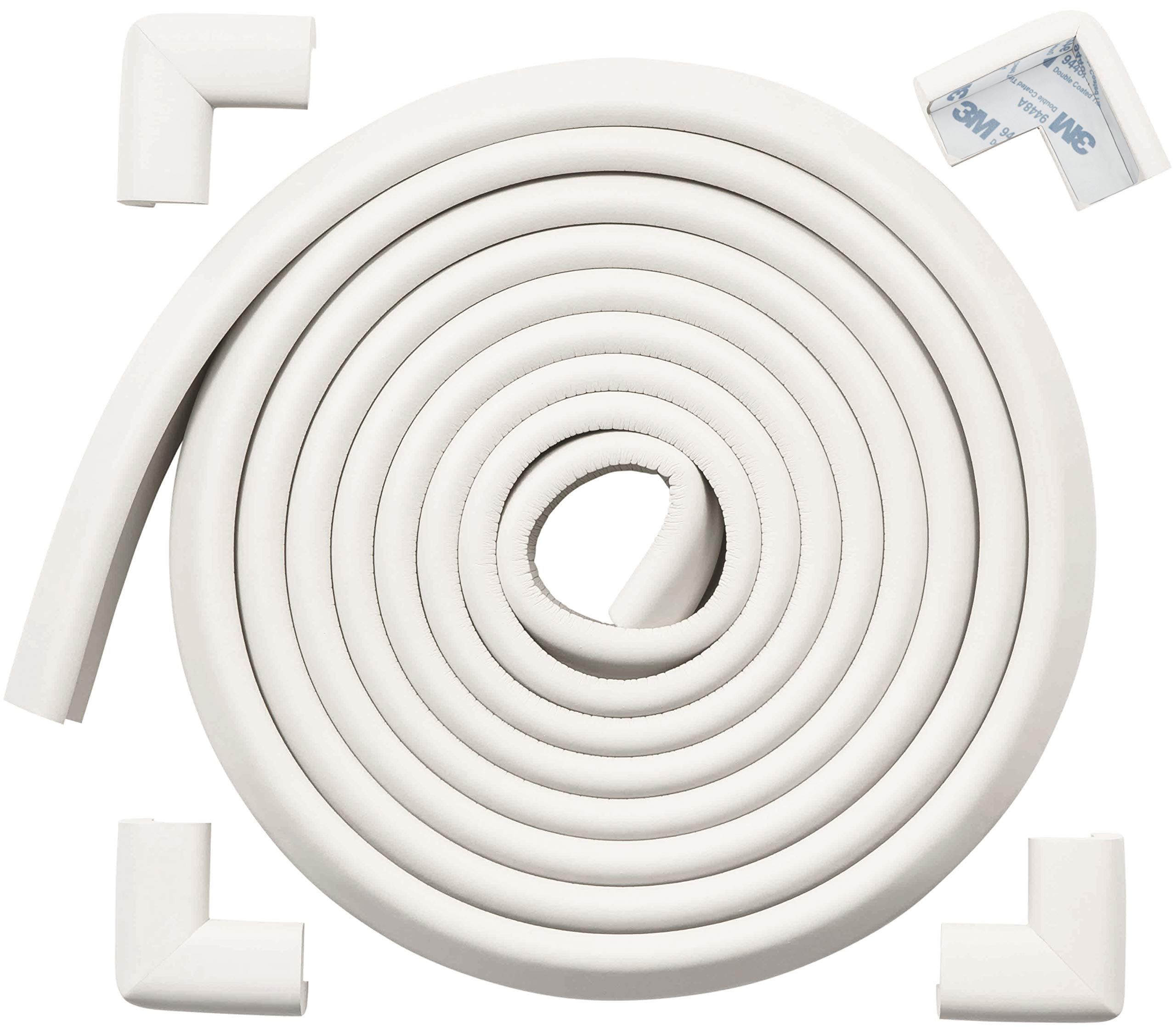 Baby Proofing Edge /& Corner Guards 15ft Foam Protector Bumpers Corners Cushion