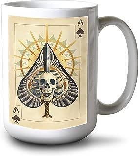 product image for Lantern Press Ace of Spades - Playing Card (15oz White Ceramic Mug)