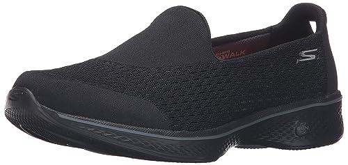 Skechers Performance Women's Go Walk 4 Pursuit Walking Shoe, Black, ...