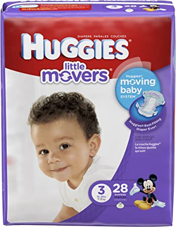 Huggies Little Movers Diapers - Size 3-28 ct