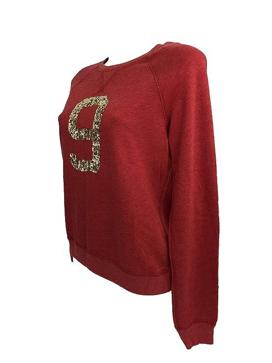 Abercrombie & Fitch - Sudadera - para Mujer Rosso Corallo L: Amazon.es: Ropa y accesorios