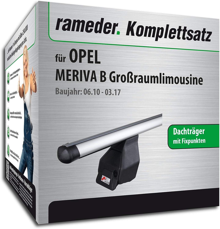 Rameder Komplettsatz Dachtr/äger Tema f/ür OPEL MERIVA B Gro/ßraumlimousine 118853-08549-3