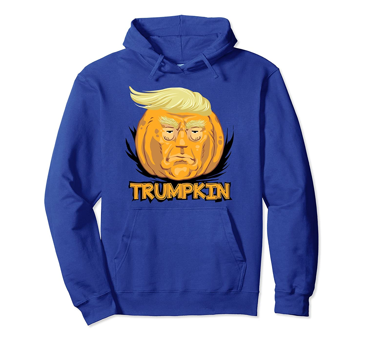 Democrats Trumpkin Hoodie, Scary Halloween Pumpkin Head-ANZ