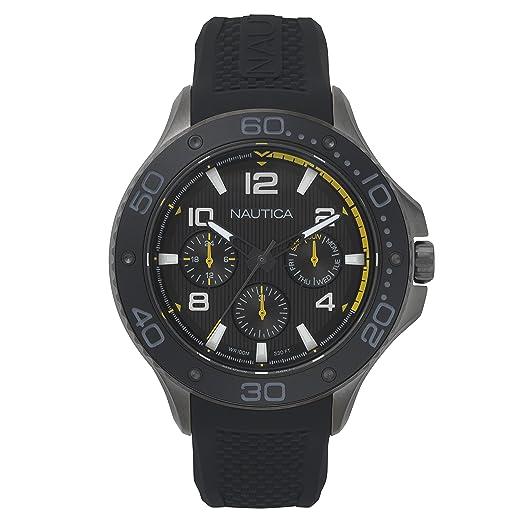 Silikon Herren Nautica Armband Analog Uhr Napp25004 Quarz Mit PlwZikuTOX