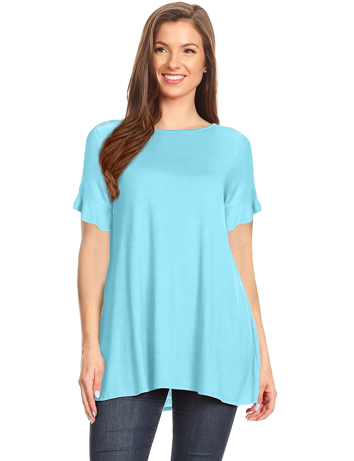 5b1a572ff526b9 QUALITY - These summer Plus Size Tunic for women are composed of a high  quality and durable blend of Rayon and Spandex for a super soft feel ...