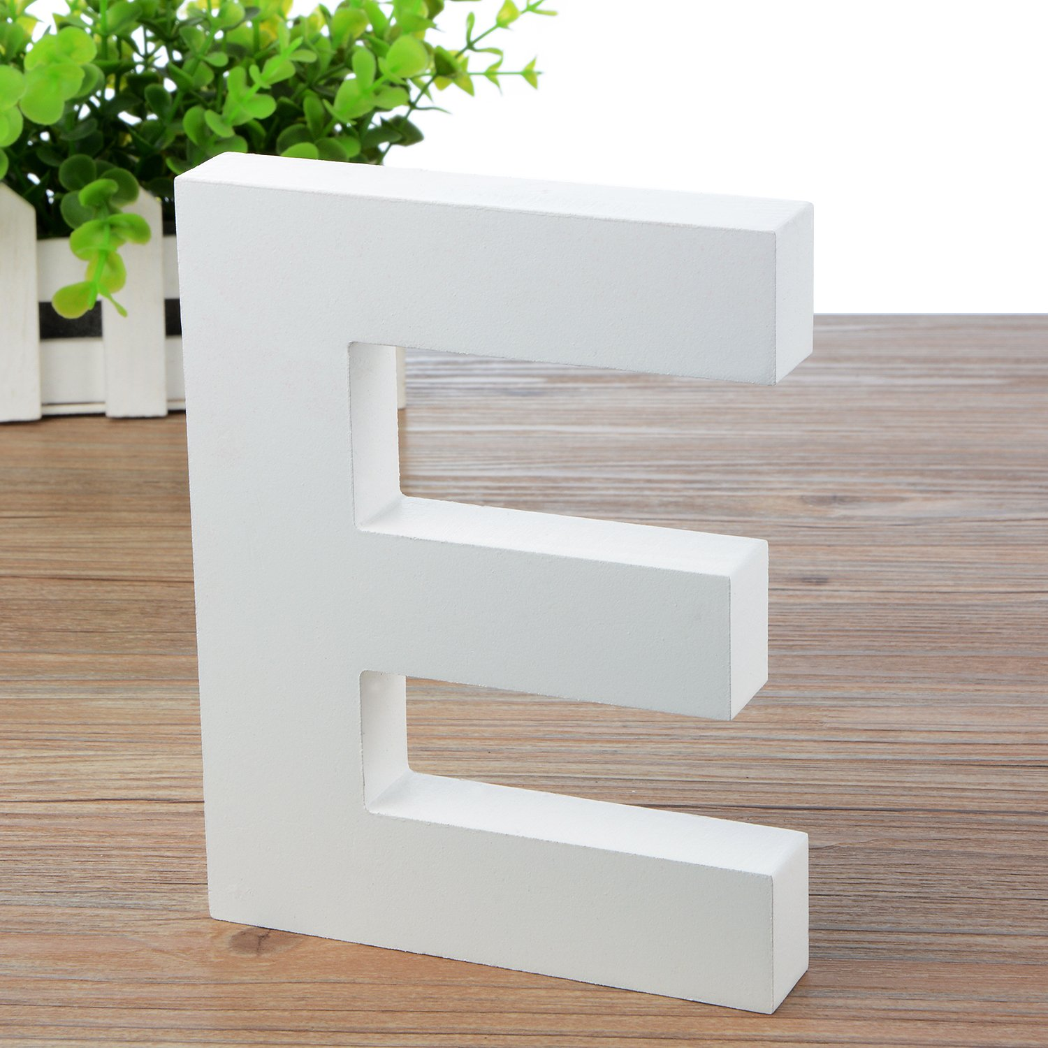 5.9(L)*4.5(H)*0.8(W)/15 * 11.5 * 2cm Large Wall Letters Marquee Alphabet S Wood Wooden Number DIY Block Words Sign Hanging Decor Letter for Home Bedroom Office Wedding Party Decor White Zebery Zebery001