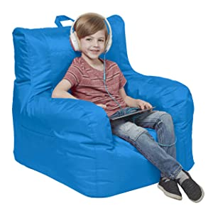 Cali Big Bear Sack Bean Bag Chair, Dirt-Resistant Coated Oxford Fabric, Flexible Seating for Kids, Teens, Adults, Furniture for Bedrooms, Dorm Rooms, Classrooms - French Blue
