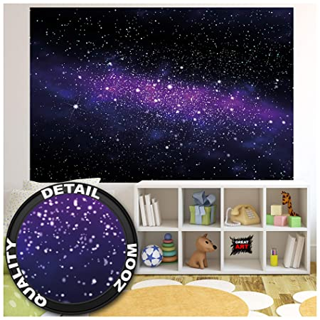 GREAT ART XXL Póster Cuarto De Los Niños - Gran Galaxia Estrellas ...