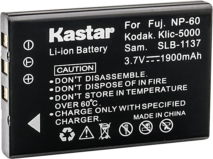 Kastar R07 Battery Replacement for HP Photosmart R707 R717 R927 R967 R817 R818 R927 R967 R07 R507 R607 R607v R607xi KODAK EASYSHARE DX6490 DX7440 DX7590 DX7630 LS420 LS433 Z760