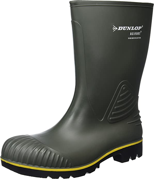 Dunlop B440631 Acifort KUIT GR, Botas de Estar por casa Unisex Adulto, Verde-Grün (Grün(Groen) 08), 45 EU