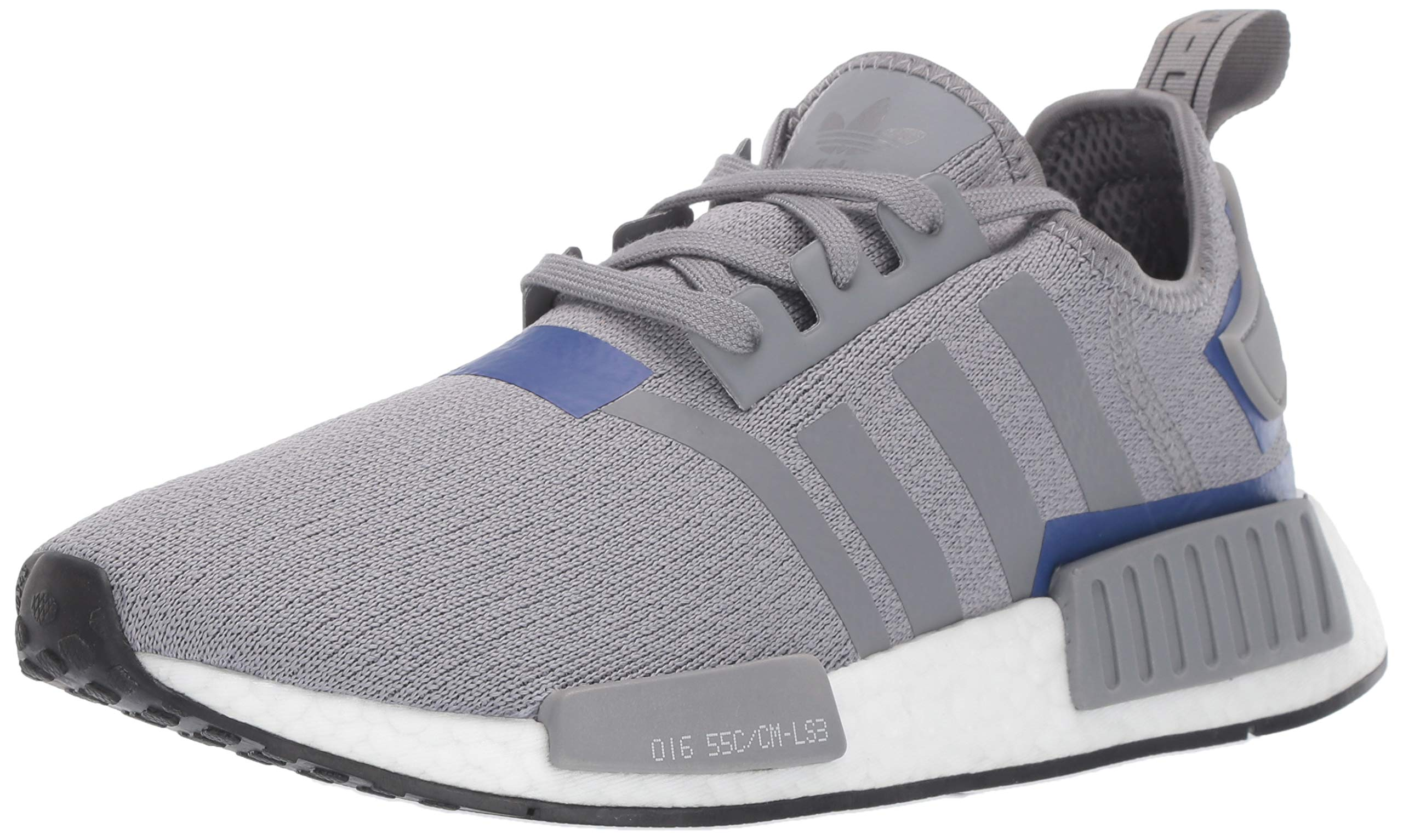 adidas Originals Men's NMD_R1 Running Shoe Grey/Active Blue, 4 M US