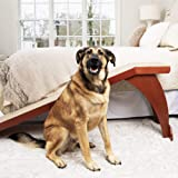 PetSafe CozyUp Bed Ramp for Dogs and Cats - Durable Frame Supports up to 120lb - Furniture Grade Wood Pet Ramp with…