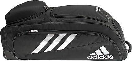 De Dios Adepto su  Adidas Bolsa de Utilidad de Bates con Ruedas Unisex, Negro/Plateado, Una  Talla: Amazon.com.mx: Deportes y Aire Libre