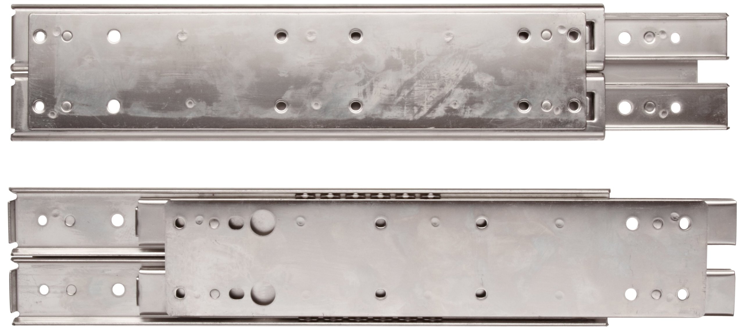 Sugastune ESR-5 304 Stainless Steel Drawer Slide, 3/4 Extension, Positive Stop, 16'' Closed, 11-47/64'' Travel, 229lbs/Pack (1 Pair)