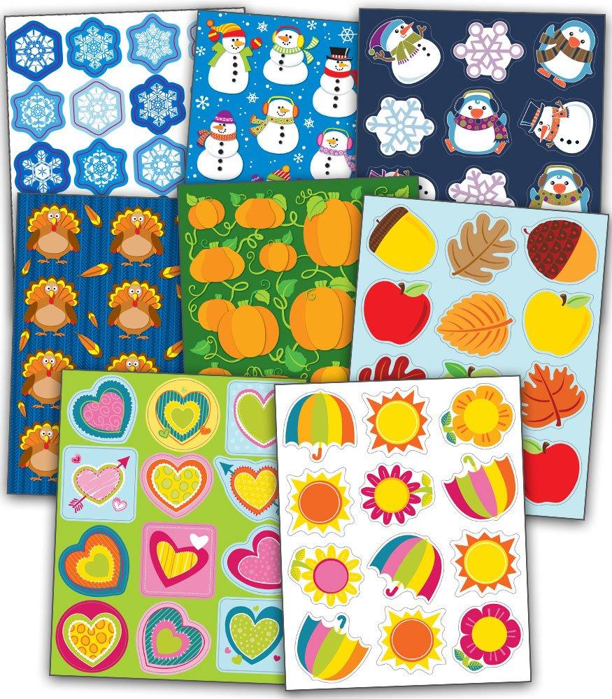 Carson-Dellosa Seasonal Shape Sticker Set