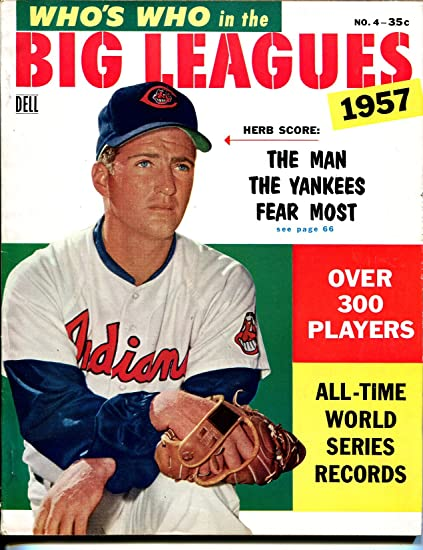 Whos Who In The Big Leagues 4 1957 Dell Herb Score MLB