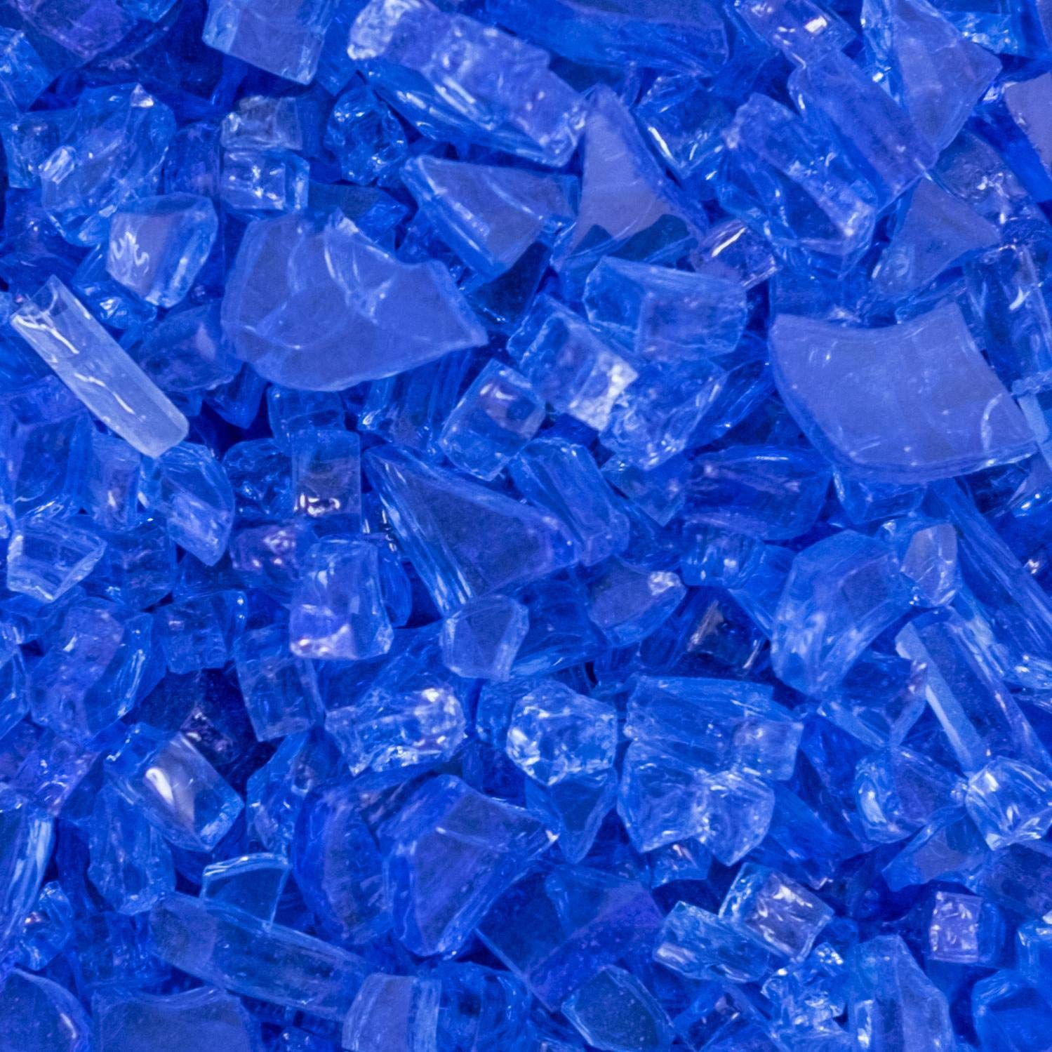 Lakeview Outdoor Designs 1/4-Inch Blue-Jay Fire Glass - 1 Pound