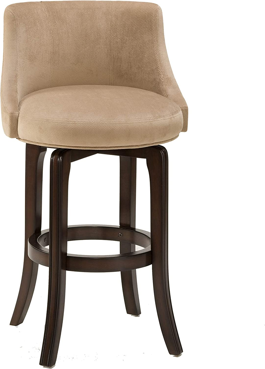 Hillsdale Furniture 4294-828I Napa Valley Upholstered Swivel Counter Stool, Height, Khaki