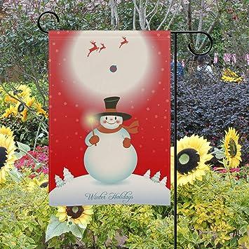 Bennigiry - Bandera Decorativa de Doble Cara para jardín, diseño de muñeco de Nieve, 30, 5 x 45, 7 cm, 28x40(in): Amazon.es: Jardín