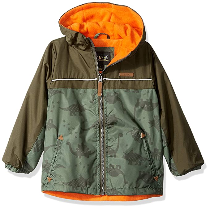 iXtreme Boys' Toddler Tonal Colorblock Windbreaker, Dino Forest, 2T