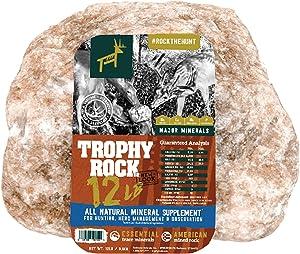 TROPHY ROCK Redmond All-Natural Mineral Rock/Salt Lick, Attract Deer and Big Game…