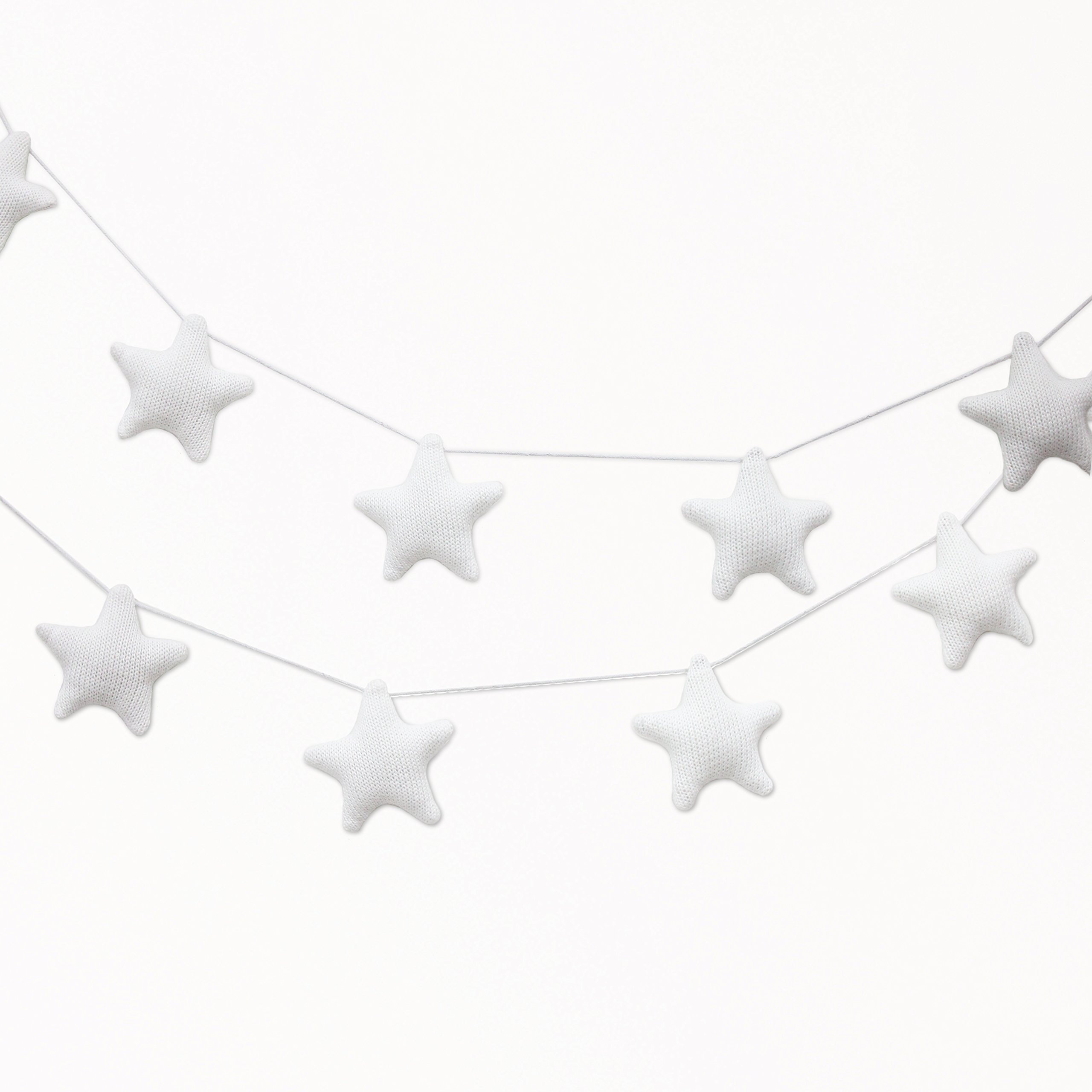 Living Textiles - Knitted Garland - White Stars