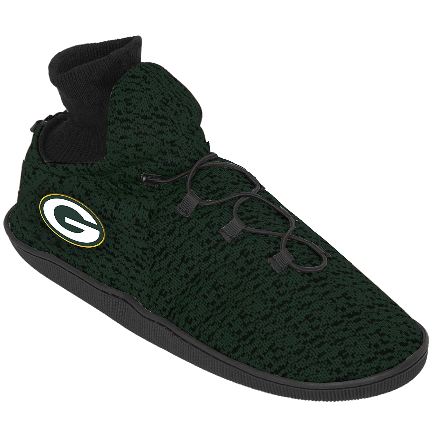 cheap for discount 5fcc1 7e06f Amazon.com  Forever Collectibles Green Bay Packers Poly Knit Sneaker  Slippers, Small (7-8)  Home   Kitchen