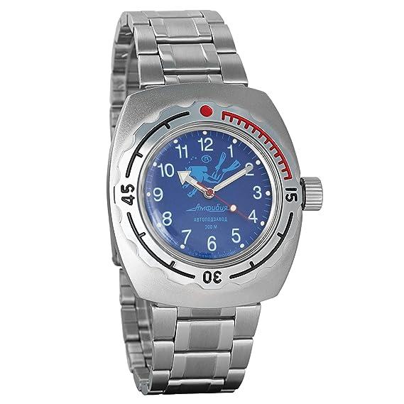 Vostok - Reloj de pulsera automático para hombre, diseño de anfibio militar, reloj de