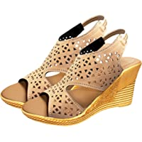 Ziaula Womens Stylish Casual Wedges Heel Sandal Available in Combo Pack and Single Pack Yellow
