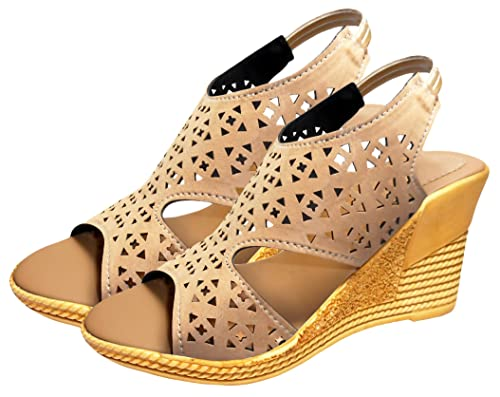 7b819a8ba1c0 Ziaula Womens Casual Wedges Heel Sandal Available in Combo Pack and Single  Pack  Buy Online at Low Prices in India - Amazon.in