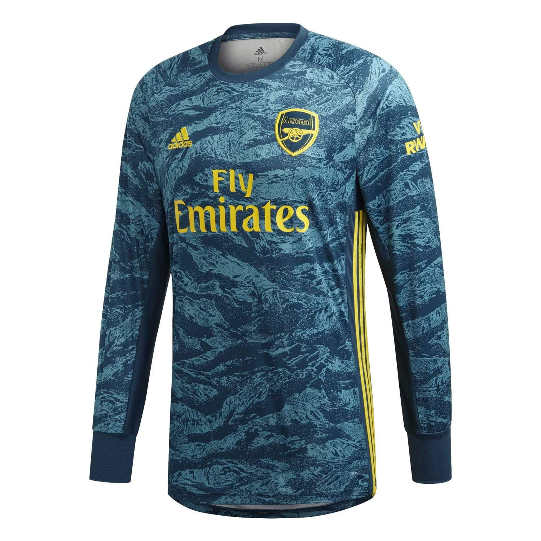 vert grand 42-44  Chest adidas 2019-2020 Arsenal Home Goalkeeper Football Soccer T-Shirt Maillot