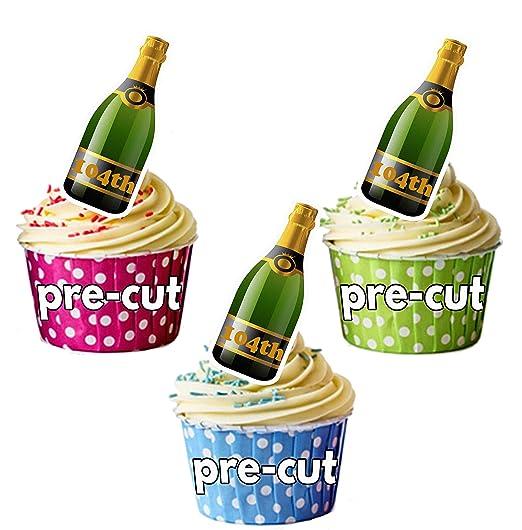 Precortado 104ª botella de champán - Decoración comestible ...