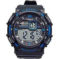 Men's Digital Casual Watch with Waterproof Rubber Strap , 2724810493880