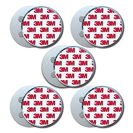Antiadherente Plus Soporte Magnético Detector de Humo Universal magnético Fijación Redondo Soporte magnético Autoadhesivo Almohadillas Adhesivas