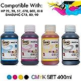 ProDot All Inkjet Printers Ink 100 ml Multicolor Set Of 4 (Cyan, Magenta, Yellow, Black)
