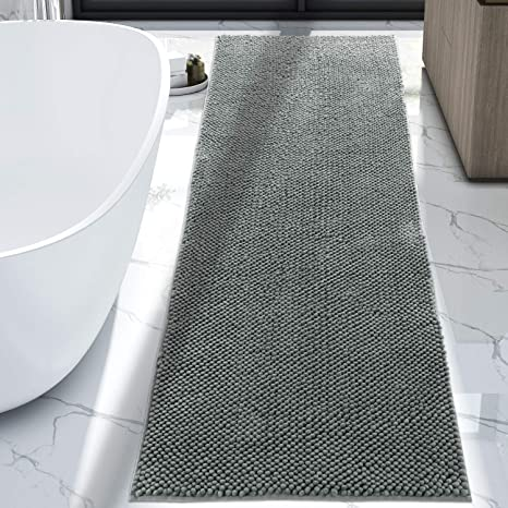 Wondrous Lifewit Bath Runner Rug Chenille Area Mat Rugs For Bathroom Kitchen Entryway Bedroom Machine Washable Water Absorbent With Non Slip Rubber Collection Download Free Architecture Designs Scobabritishbridgeorg