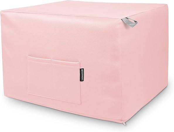 HAPPERS Puff Rosa Convertible en Cama cómoda con Funda de Polipiel incluida, Futón con Cama colchon, colchoneta Convertible en Puff o cómodo sillón Fabricado en España. Incluye 3 años de garantía: Amazon.es: