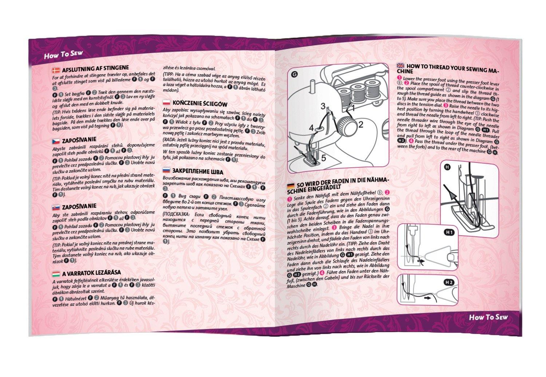 8c4a83fcf LENA 42521 - Machine à Coudre pour Enfants, Piles avec Fil à Coudre ...