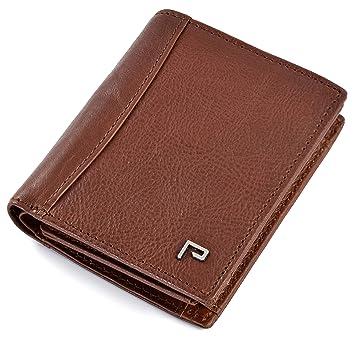 Cartera de Piel para Hombre | Tarjetero y Billetero | RFID Bloqueo | con Bolsillo para Monedas [marrón]: Amazon.es: Equipaje