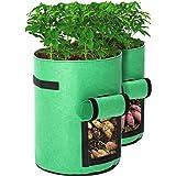 Tvird Potato Grow Bags 2 Pack 10 Gallon Planting Pouch Fabric Pots Premium Breathable Cloth Bags for Potato/Plant…
