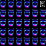 30 Packs Light Up Cups Led Glass LED Flash Light Up Drinking Glasses Bar Night Club Party Drink Tumblers Multicolor LED Tumbl