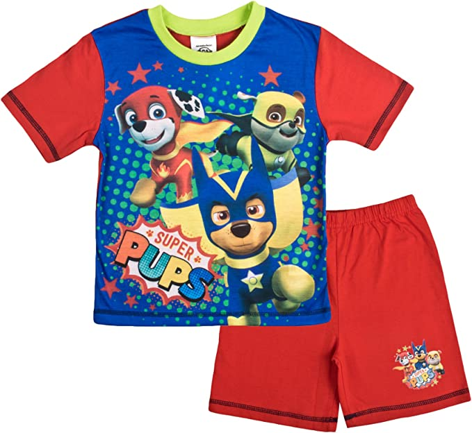 Boys Paw Patrol Short Pyjama Sizes from 18 months to  5 years