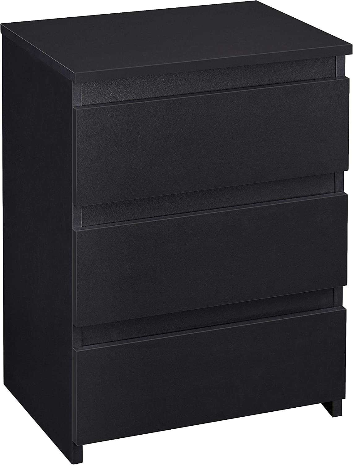 YAHEETECH Beside End Table Wood 3 Drawers Nightstand, Modern Small Nightstand with Drawers, Cabinet Storage for Bedroom