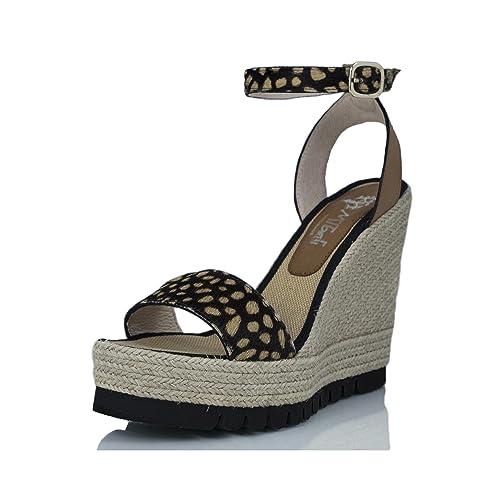 MTBALI Sandalia Alpargata con Cuña, Mujer - Modelo Savane Potro: Amazon.es: Zapatos y complementos
