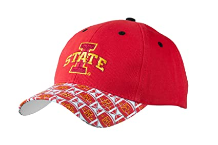 sale retailer fcd13 71853 Iowa State University Baseball Hat - Officially Licensed NCAA Adjustable  Iowa State Baseball Cap with Football