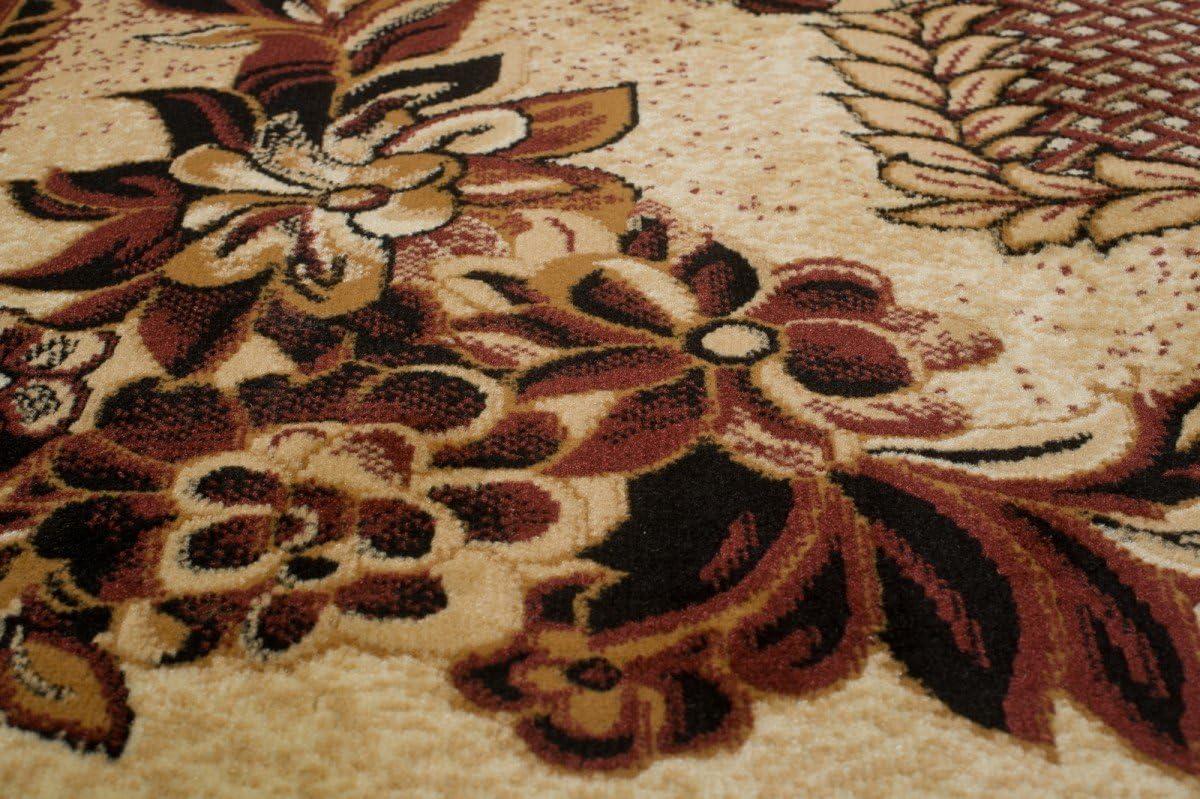 Carpeto Rugs Tapis Salon Marron 60 x 100 cm Classique//Verona Collection