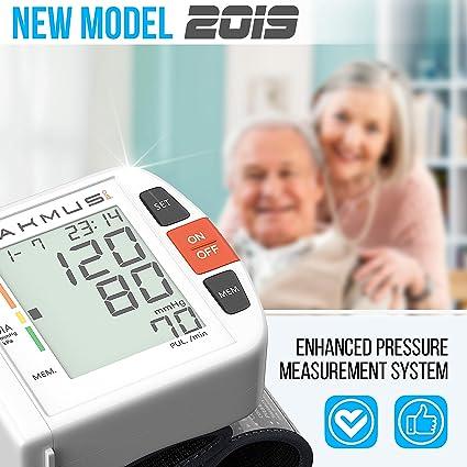 Amazon.com: Lakmus Blood Pressure Monitor Cuff Wrist - Digital BP Monitor FDA Approved - Fully Automatic Accurate Wrist Blood Pressure Monitor for Home ...