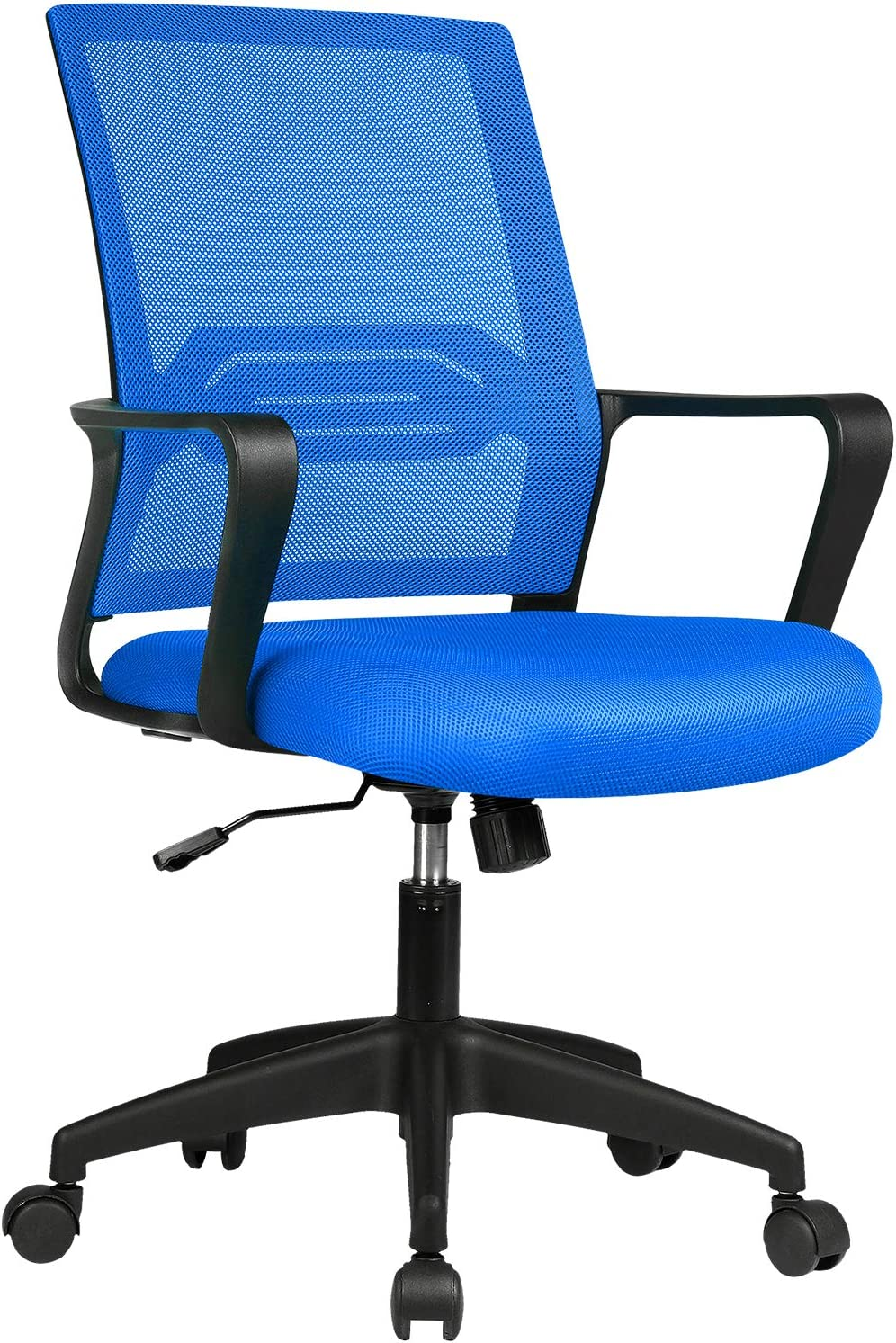 ComHoma Office Chair Ergonomic Desk Chair Mesh Computer Chair Mid Back Mesh Home Office Swivel Chair, Modern Executive Chair with Armrests Lumbar Support(Blue),