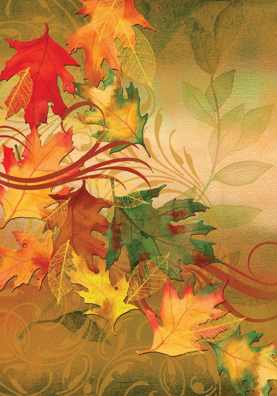 amazon com toland autumn aria decorative leaves fall orange